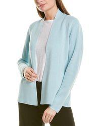 Eileen Fisher Shaped Silk-blend Jacket - Blue