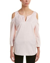 NYDJ Agnes Cold-shoulder Top - Pink