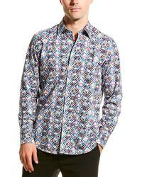 Robert Graham Pinebrook Woven Shirt - White