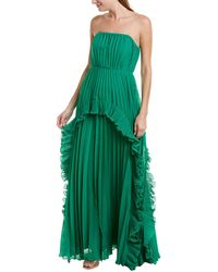 Halston Halston A-line Dress - Green