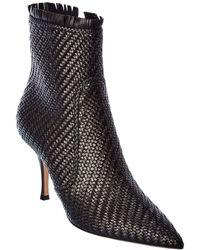Dior Leather Bootie - Black