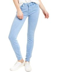 WASH LAB Fay Mid-rise Sour Blueberry Skinny Leg Jean