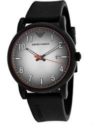 Armani Three Hand Watch - Black