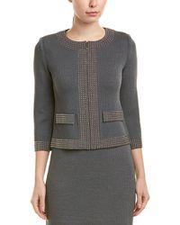 St. John Wool-blend Jacket - Gray