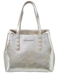 Jimmy Choo - Sofia Metallic Leather Tote - Lyst