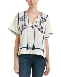 Ella Moss - Embroidered Top - Lyst
