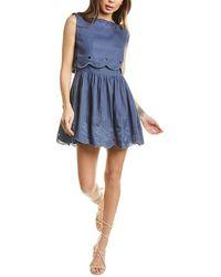 Innika Choo Ladylike Linen Mini Dress - Blue