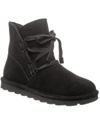 BEARPAW Zora Leather Boot - Black