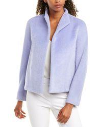 ESCADA Alpaca & Wool-blend Jacket - Blue