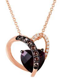 Le Vian 14k Rose Gold 2.20 Ct. Tw. Diamond & Gemstone Pendant Necklace - Metallic