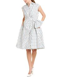 Carolina Herrera Cap Sleeve Shirtdress - White