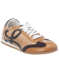 Loewe Ballet Runner Leather Trainer - Brown