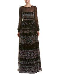 Valentino - Embellished Silk-trim Gown - Lyst