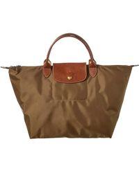 Longchamp - Le Pliage Medium Nylon Short Handle Tote - Lyst