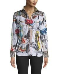Robert Graham Sculpture Linen-blend Shirt - Multicolor