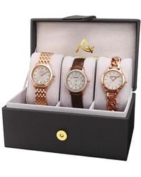 August Steiner Women's Set Of 3 Watches - Multicolor