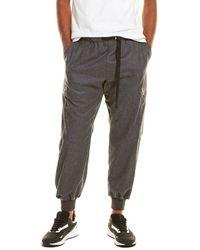 Stella McCartney Flannel Wool Trouser - Grey