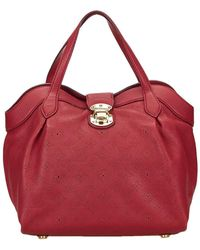 Louis Vuitton - Red Monogram Mahina Leather Cirrus Pm - Lyst