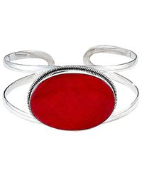 Samuel B. Sterling Silver Coral Cuff - Red
