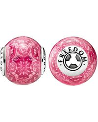 PANDORA Essence Collection Silver Freedom Charm - Pink