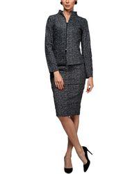 Aerin Blouse & Skirt - Grey