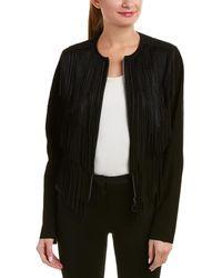 Elie Tahari Leather Jacket - Black