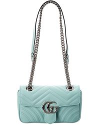 Gucci GG Marmont Small Shoulder Bag - Green