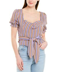 Moon River Belted Top - Purple