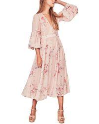 LoveShackFancy Ariel Silk Dress - Pink