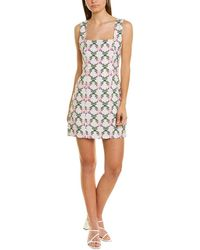 The East Order Checkered Floral Mini Dress - White