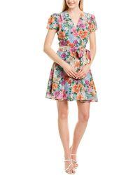 Yumi Kim Silk-blend Wrap Dress - Blue