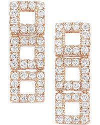 Dana Rebecca - Designs Allison Joy 14k Rose Gold 0.26 Ct. Tw. Diamond Drop Earrings - Lyst