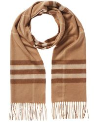 Burberry The Classic Check Cashmere Scarf - Natural