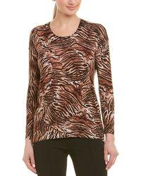 The Kooples Tiger Print Silk-blend Jumper - Natural