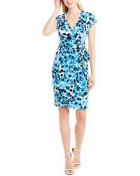 Maggy London Wrap Dress - Blue