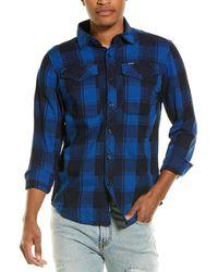 G-Star RAW Raw Bristum Utility Straight Woven Shirt - Blue