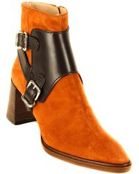 Tod's Tod?s Buckle Suede Boot - Orange