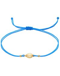 Gabi Rielle Gold Over Silver Anklet - Blue