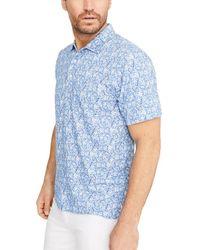 J.McLaughlin Marlon Linen-blend Polo Shirt - Blue