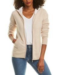 PLY KNITS High-low Cashmere Hoodie - Natural