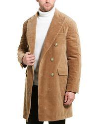 Brunello Cucinelli Corduroy Trench Coat - Natural