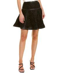 The Kooples Botanique Lace Skirt - Black