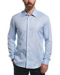 Armani Emporio Slim Fit Woven Shirt - Blue