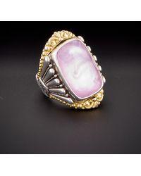 Konstantino - Iliada 18k & Silver 30.00 Ct. Tw. Mother-of-pearl Gemstone Doublet ring - Lyst