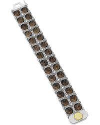 Tacori - Truffle 18k & Silver 106.12 Ct. Tw. Smoky Quartz Bracelet - Lyst