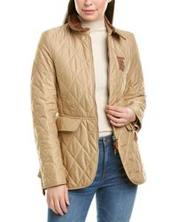 Burberry Monogram Quilted Jacket - Brown