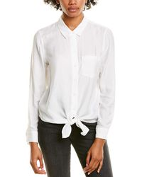 Vince Camuto Tie-front Blouse - White