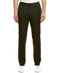 Karl Lagerfeld Pintuck Textured Trouser - Black