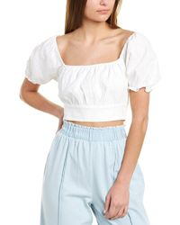 Sage the Label Close To Paradise Crop Top - White