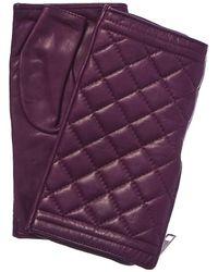 Portolano - Sugar Plum Silk-lined Leather Fingerless Gloves - Lyst